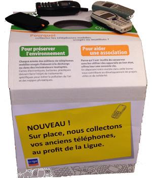 Boîte collecte vieux portables