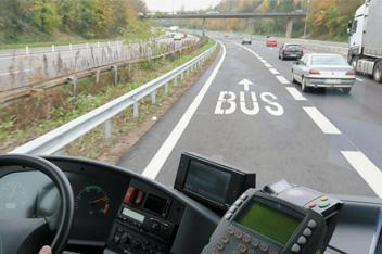Voie dédiée au bus sur l'A10 - CCPL